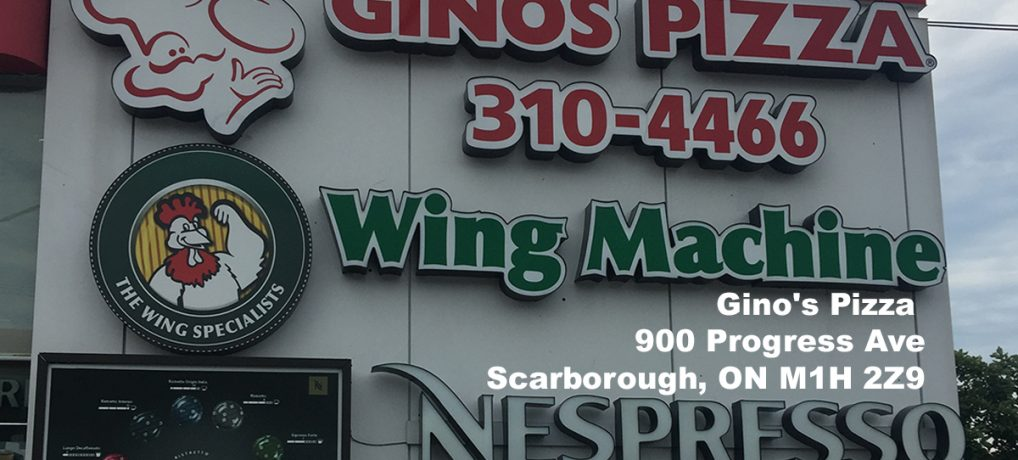 Gino's Pizza Scarborough Menu
