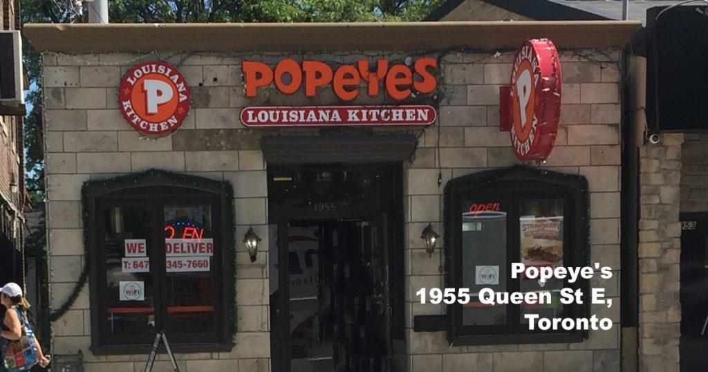 Popeye 1955 Queen St E Toronto