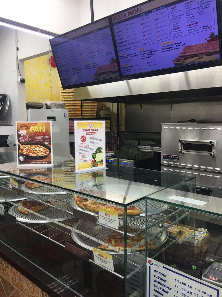 Gino's Pizza Scarborough Menu
